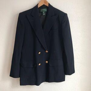 Ralph lauren 10p Navy Wool crest buttons blazer